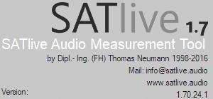 SATlive version information for version 1-70-24